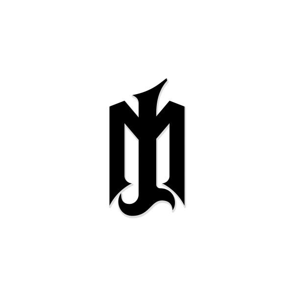 Brand Logo Sticker schwarz